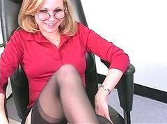 Blonde, Office, Masturbation, Saori hara in office sex