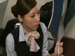 Asian, Handjob, Japanese, Stewardess orgy
