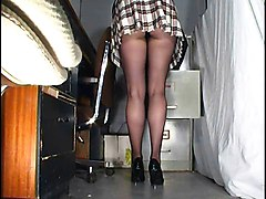 Panties, Office, Upskirt, Bike upskirt