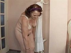 Granny, Hairy, Amateur granny first sex party