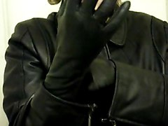 Leather, Gloves, Japanese lesbians wearing gloves assistant bus