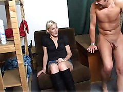 Blonde, Married milf cant say no to japanese massage with japanese stranger