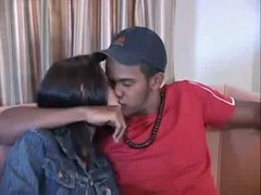 Latina, Ass, Cute, Cute sister fucked painfully in ass by brother