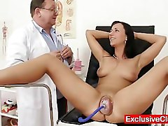 Gyno, Babe, Pump, Giving pussy injection at gyno exam