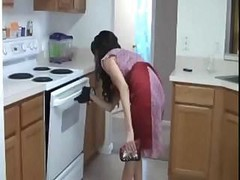 Handjob, Kitchen, Milf, Stepmom jodi west and levi cash kitchen