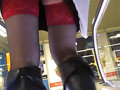 Boots, Black, Upskirt, Boots trample