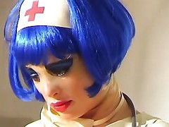 Latex, Pump, Nurse, Deep fisting, huge anal pump, doctor, nurse, double fisting