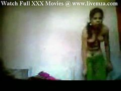 Indian, Maid, Maid flash couple naked