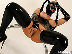 Rubber, Doll, Rubber glove handjob