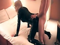 Crossdresser, Latex, Dress, Crossdresser piss drink