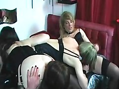 Crossdresser, Dress, Crossdresser being fucked