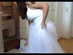 Teen, Bride, Dress, Ebony wedding bride bwc