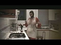 Fetish, Kitchen, Latex, Mexican mom son kitchen