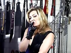 Smoking, Leather, Gloves, Women being choked in leatheremdom choking glove leather