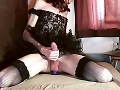 Crossdresser, Dress, Dildo, Crossdress sex