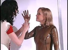 Bdsm, Blonde, Bondage, Rubber fucking sex slaves