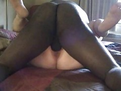 Creampie, Interracial mature creampie