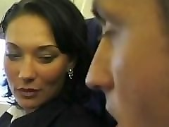 Beauty, Stewardess, Uniform, Busty stewardess fucked in a plane
