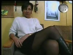 German, Mature, German granny stocking