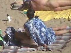 Couple, Beach, Couples masterbate together