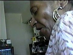 Granny, Black, Blowjob, Old granny homemade anal