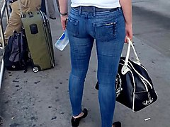 Jeans, Milf, Tight, Fat mature ass jeans