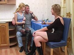 Teen, Tied, Tied up sister table fucked