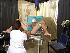 Gyno, Teacher, Exam, Sissy crossdresser gets gyno exam