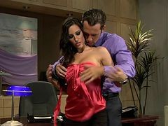 Secretary, Rich guy making use of his beautiful hot secretary to make sex video