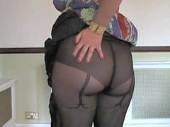 Panties, Pantyhose, Milf, Wife shows hubby her panties after date