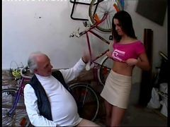 Teen, Money, Old Man, Old man jacking off solo