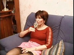 Stockings, Milf, Sexy mature milf wife janet and her black lover