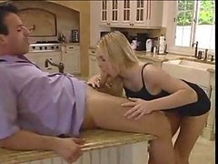 Blonde, Kitchen, Ass, Wife catches husband fucking mom in kitchen