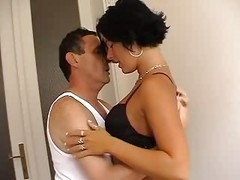 Italian, Couple, Mature, Italian son amateur threesome