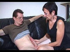 Big Cock, Latex gloves handjob prostate massage
