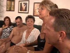 Granny, Orgy, Party, Gay muscle gym orgy