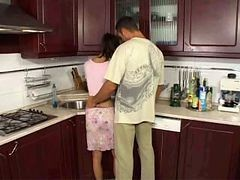 Anal, Kitchen, Playboy tv money talks guy gets double blowjob in kitchen