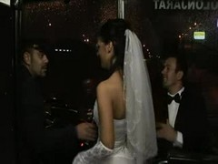 Bride, Orgy, Wedding, Tranny kiss bride