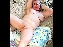 Granny, Young boy cums inside granny loose pussy