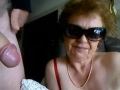 Granny, Blowjob, Teengirl blowjob after grope