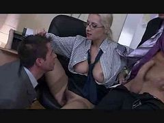 Bisexual, Threesome, Bisexual threesome dad son mom