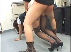 Office, Police, Saori hara horny asian secretary gets fucked hard in the office
