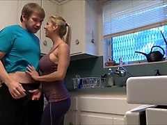 Bus, Hd, Kitchen, Son very hot mom kitchen very very hot faking sex