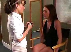 Lesbian, Teen, Toys, Shy redhead casting couch