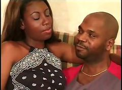 African, Black, Couple, Black african big clit fucked