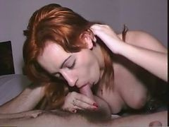 Blowjob, Cumshot, Pretty blowjob car brunette