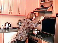 Kitchen, Wife catches husband fucking mom in kitchen
