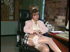 British, Office, Milf, Office spycam