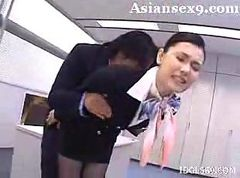 Asian, Stewardess, Japan stewardess fuck