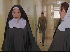 Nun, Police, Strip, Mona lisa - cum over nuns